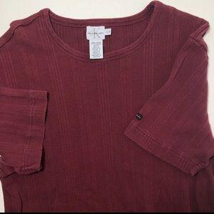 Calvin Klein Shirts - 🎧 Vintage 90's Calvin Klein ribbed t shirt top L